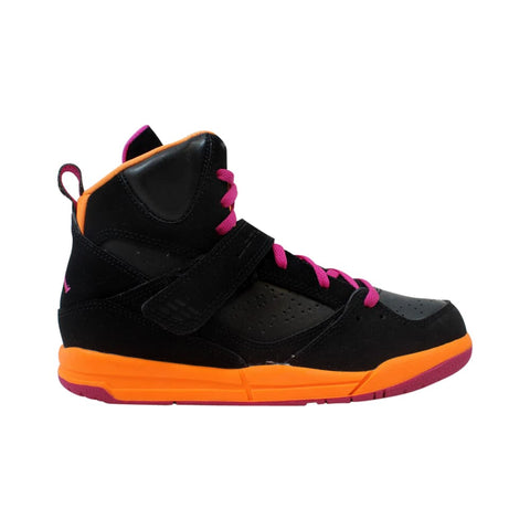 Nike Air Jordan Flight 45 High PS Black/Fusion Pink-Cool Grey-Bright Citrus  524863-028 Pre-School