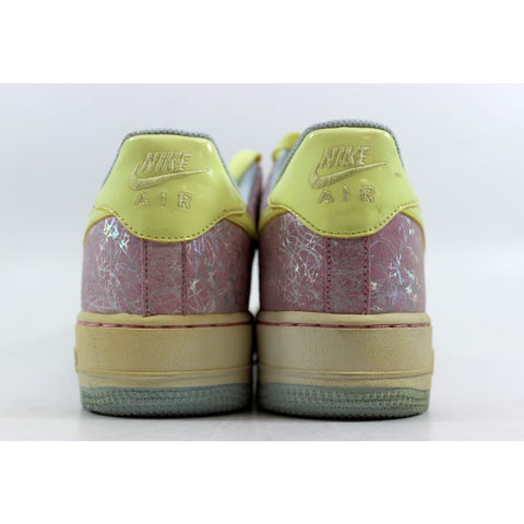 Nike Air Force 1 White/Lemon Chiffon-Pink 314219-171 Grade-School