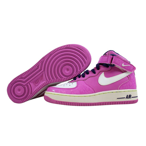 Nike Air Force 1 Mid Viola/White-Night Blue-Atomic Green 518218-500 Grade-School