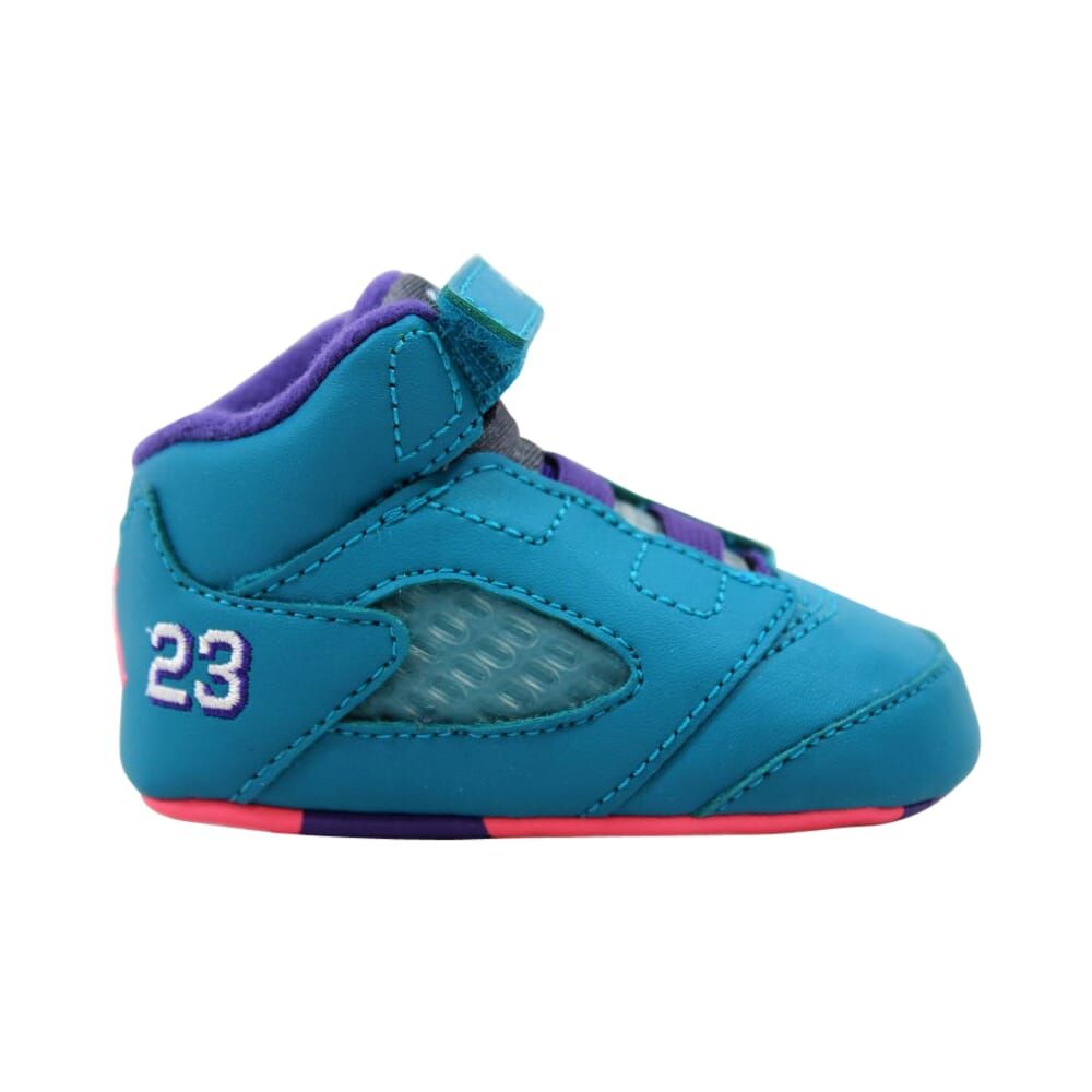 Nike Air Jordan 5 Retro Tropical Teal/White-Digital Pink-Court Purple  552494-307 Toddler