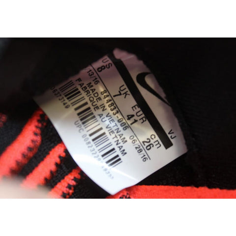 Nike Roshe Two Flyknit Black/Black-Bright Crimson-White 844833-006