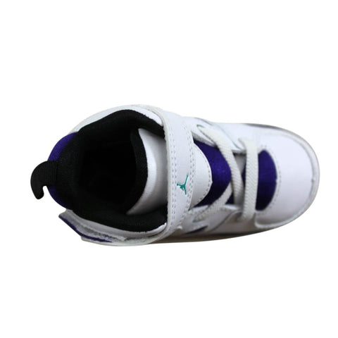 Nike Air Jordan FLTCLB '91 White/New Emerald-Grape Ice 555330-108 Toddler