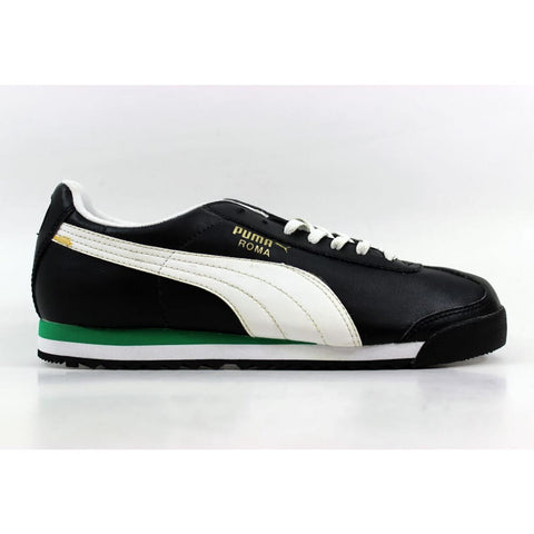 Puma Roma Black/White-Green 351377 16 Grade-School