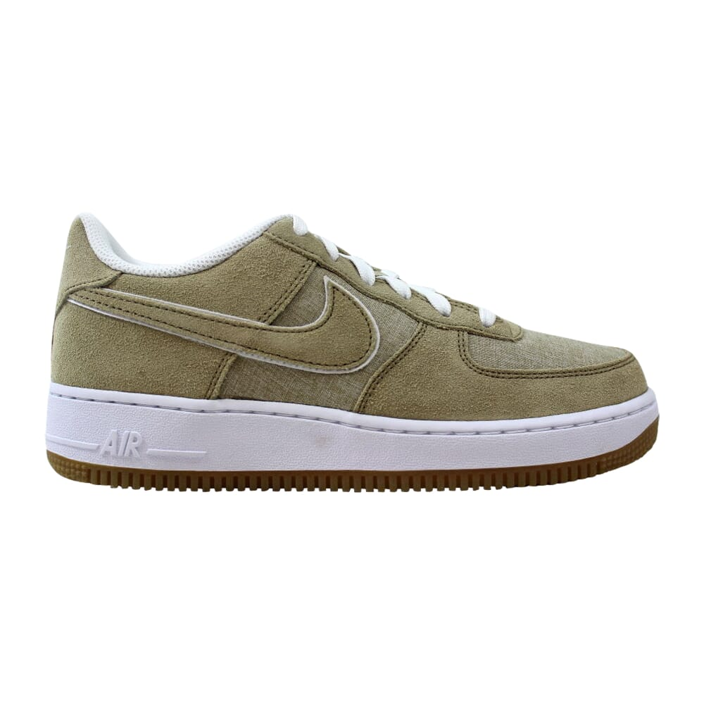 Nike Air Force 1 Khaki/Khaki-White 596728-201 Grade-School