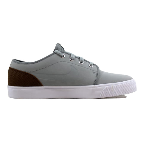 Nike Toki Low Leather Premium Base Grey/Base Grey-Military Brown 599452-020 Men's
