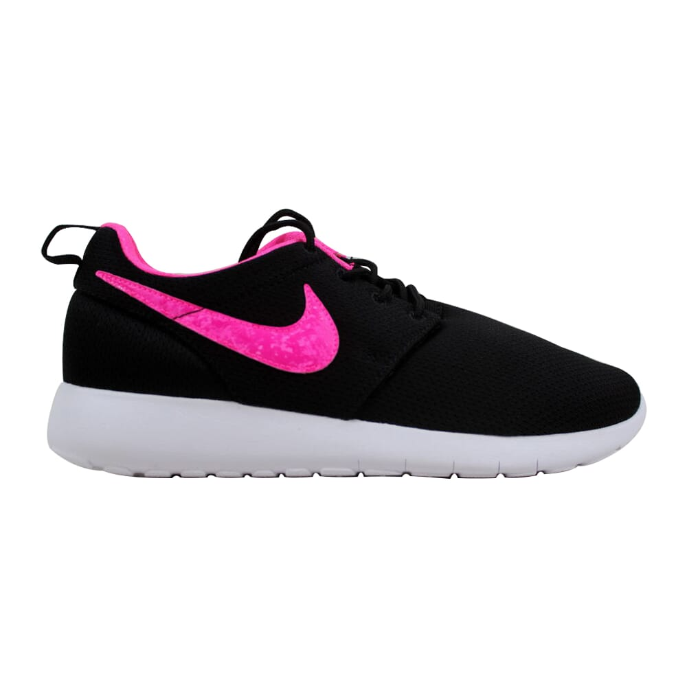 Nike Roshe One Black/Pink Blast-White  599729-014 Grade-School