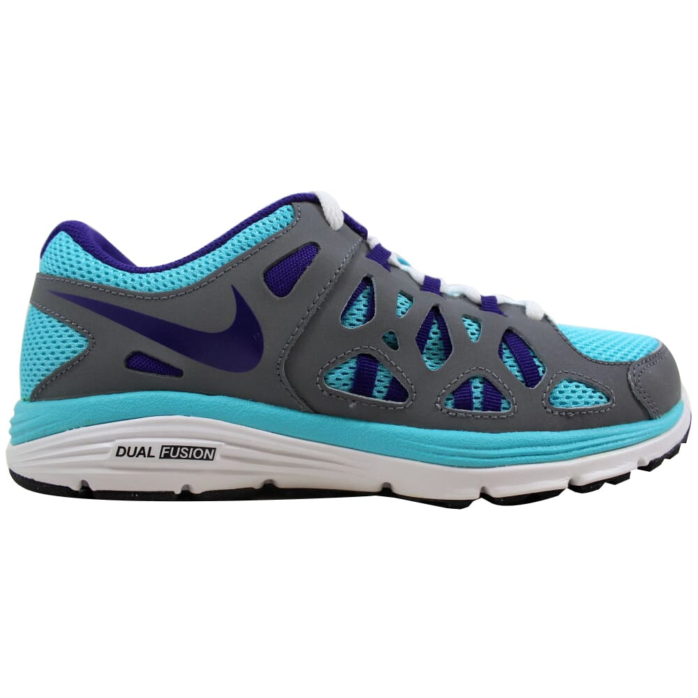 Nike Dual Fusion Run 2 Gamma Blue/Electric Purple-Cool Grey-White 599793-451 Grade-School