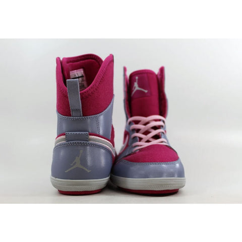 Nike Air Jordan 1 Skinny High Hyper Fuchsia/Metallic Platinum-Pebble Grey 602656-608 Grade-School