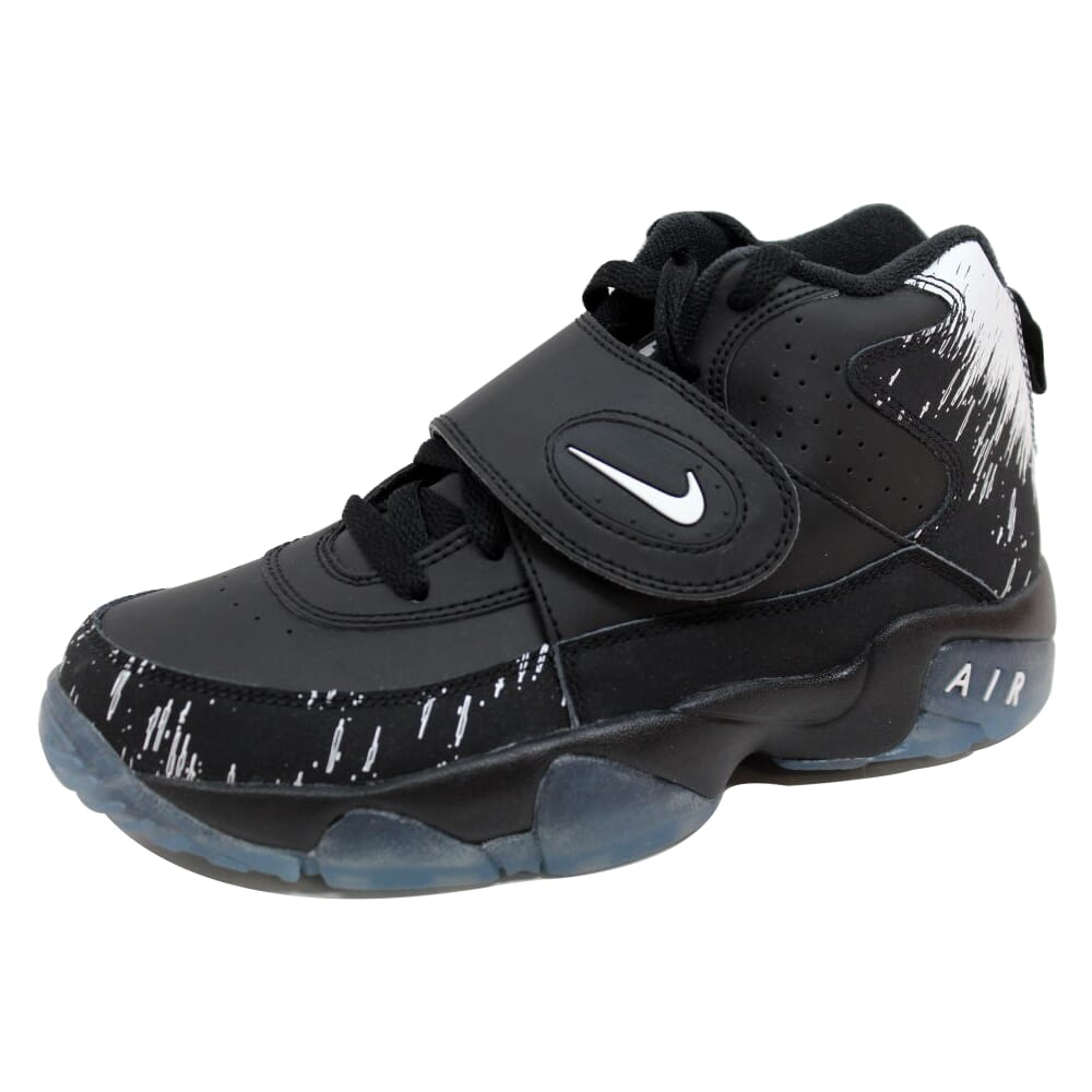 Nike Air Mission Black/Chrome-White Superbowl 630911-006 Grade-School