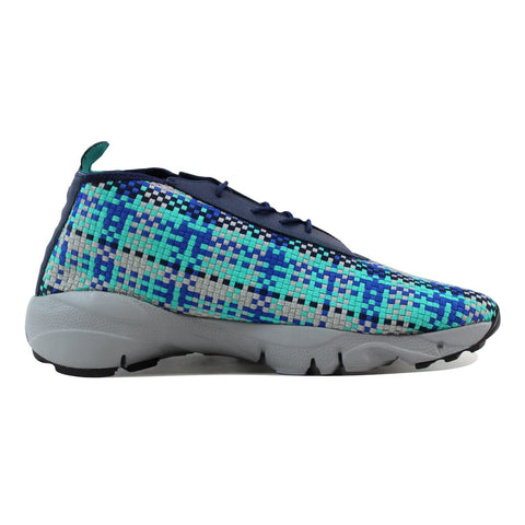 Nike Air Footscape Desert Chukka Midnight Navy/Hyper Jade-Game Royal-Metallic Silver  652822-400 Men's