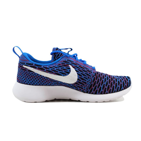 Nike Roshe One Flyknit Photo Blue/White-University Red-Black 704927-404 Women's