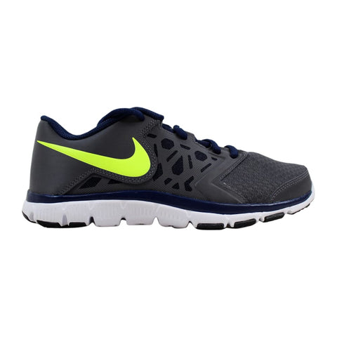 Nike Flex Supreme TR 4 Dark Grey/Volt-Midnight Navy 759990-070 Grade-School
