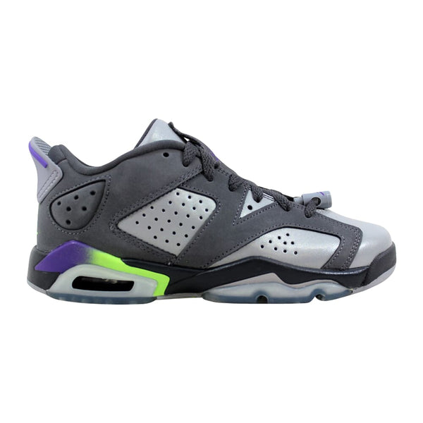Nike Air Jordan VI 6 Retro Low GG Dark Grey/Ultraviolet-Wolf Grey-Ghost Green  768878-008 Grade-School