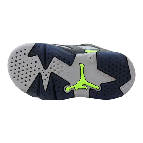 Nike Air Jordan VI 6 Retro Low GT Dark Grey/Ultraviolet-Wolf Grey-Ghost Green Dark Grey 768885-008 Toddler