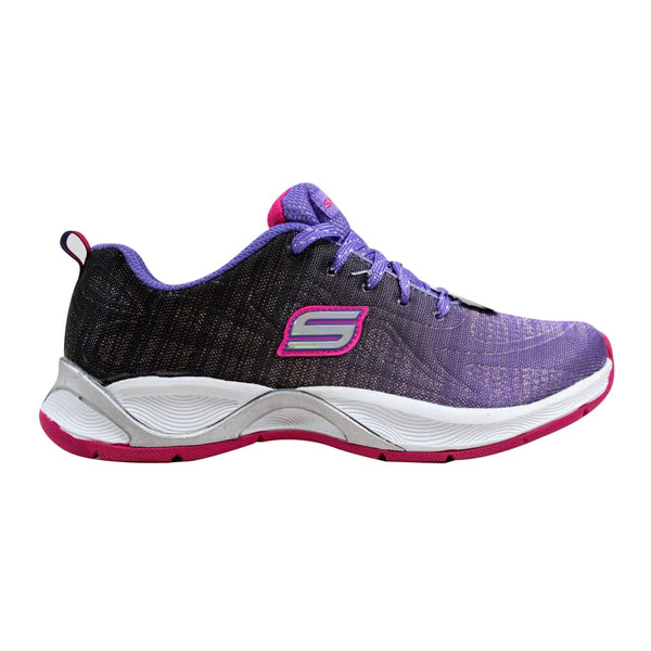 Skechers Hi Glitz Flutterspark Purple/Black-Hot Pink 81128L/PBHP Grade-School