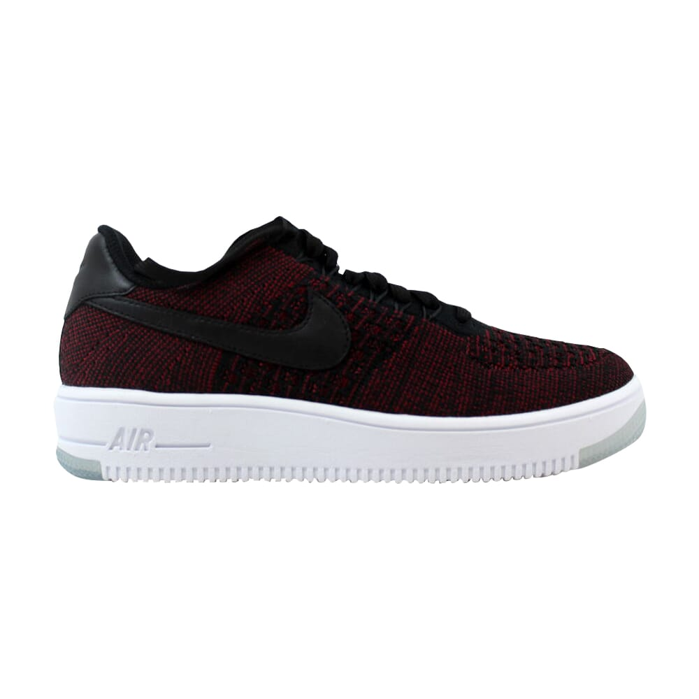 Nike AF1 Flyknit Low Black/Black-Team Red-Clear Jade 820256-002 Women's