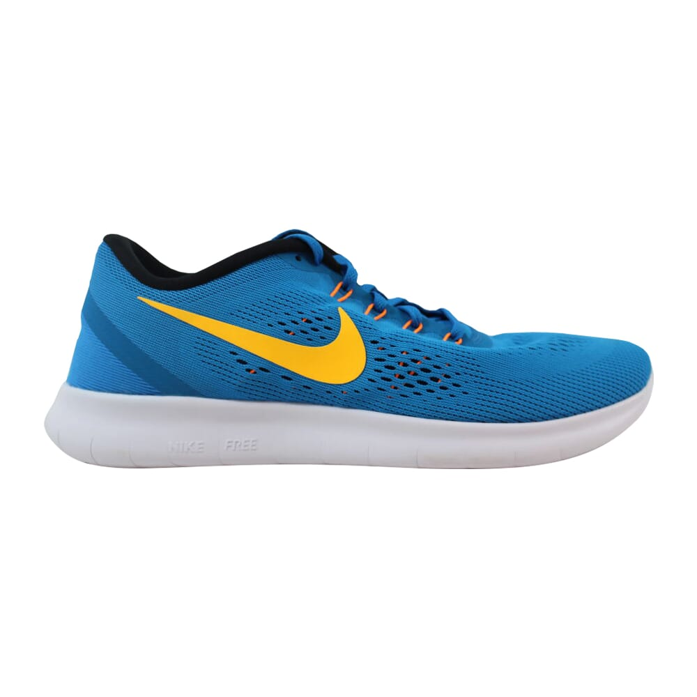 Nike Free RN Heritage Cyan/Laser Orange-Black-Blue Spark 831508-402 Men's