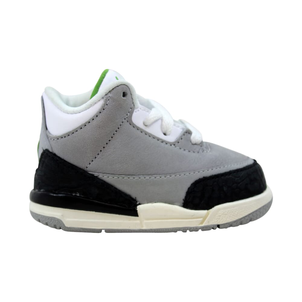 Nike Air Jordan 3 Retro Light Smoke Grey/Chlorophyll  832033-006 Toddler