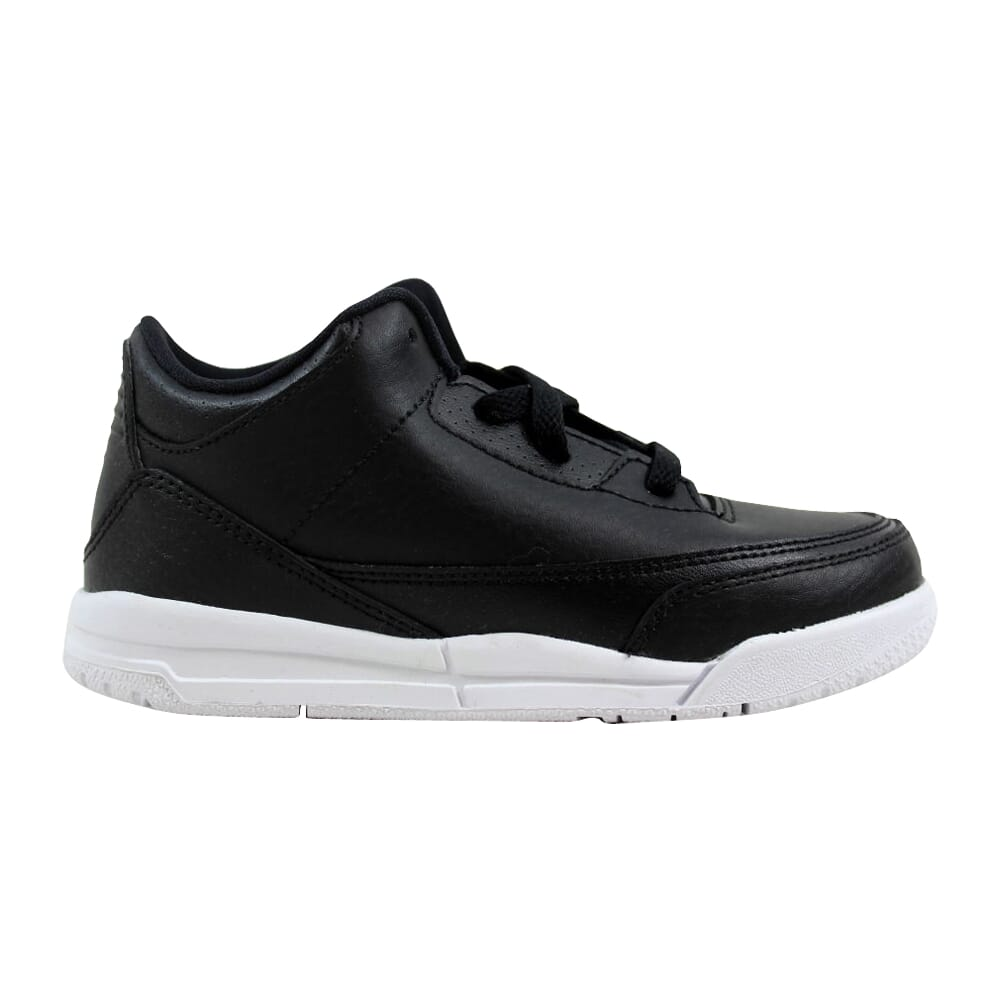 Nike Air Jordan III 3 Retro BT Black/Black-White  832033-020 Toddler