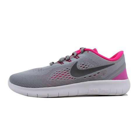 Nike Free RN Wolf Grey/Metallic Silver-White-Black 833993-001 Grade-School