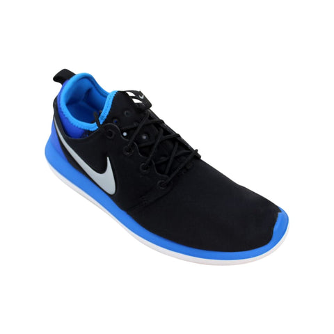 Nike Roshe Two 2 Black/Metallic Platinum-Photo Blue  844653-002 Grade-School