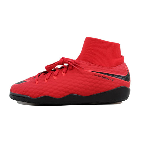 Nike JR HypervenomX Phelon 3 DF IC University Red/Black 917774-616 Grade-School