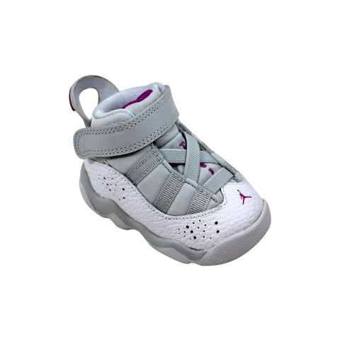 Nike Air Jordan 6 Rings Pure Platinum/Fuchsia Blast  942780-011 Toddler
