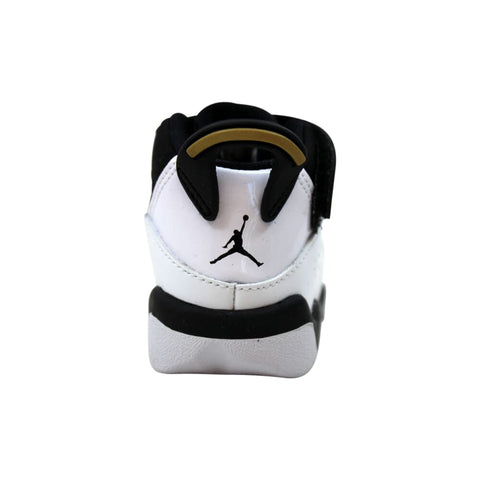 Nike Air Jordan 6 Rings White/Black-Metallic Gold  942780-100 Toddler