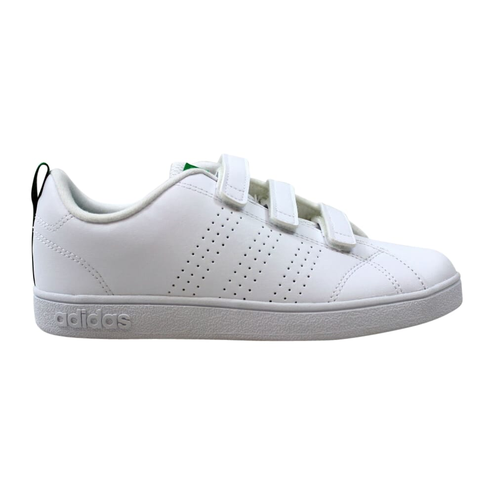 Adidas VS Advantage Clean CMF C White/White-Green  AW4880 Pre-School