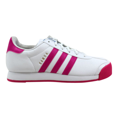 Adidas Samoa Perforated White/Pink B27471 Grade-School