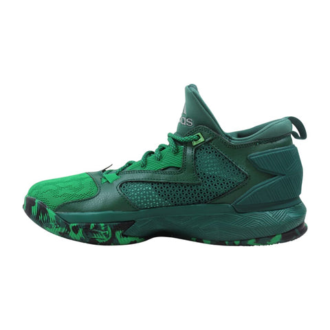 Adidas D Lillard 2 Green/Core Green-Footwear White  B42379 Men's
