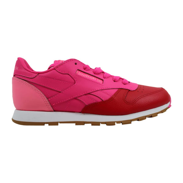 Reebok Classic Leather Dessert Pack Red/Solar Pink/Pink-White BS7250 Grade-School