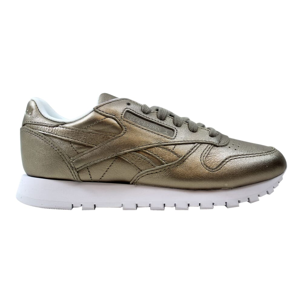 Reebok Classic Leather Melted Metal Pearl Metallic/Grey Gold  BS7898 Women's