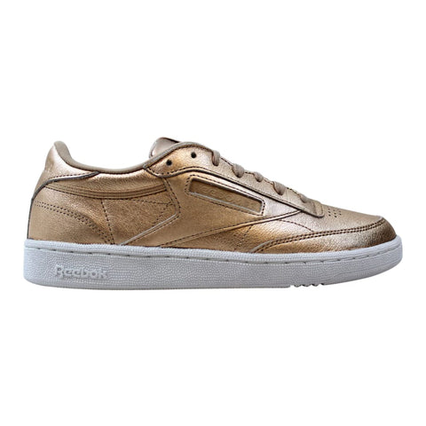 Reebok Club C 85 Melted Metal Pearl Metallic/Peach-White  BS7899 Women's