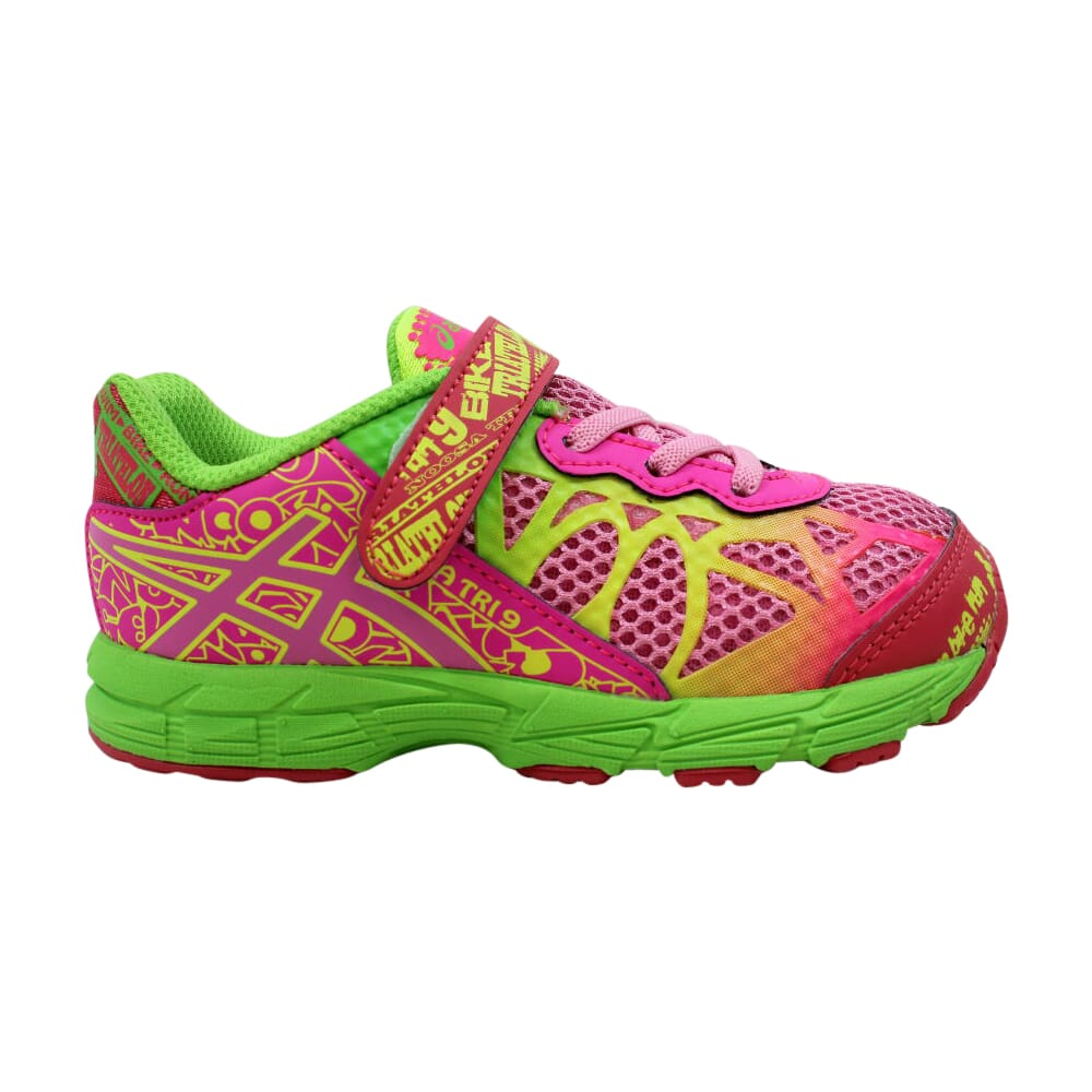 Asics Noosa Tri 9 TS Petal Pink/Hot Pink-Apple Green  C436N-3435 Toddler