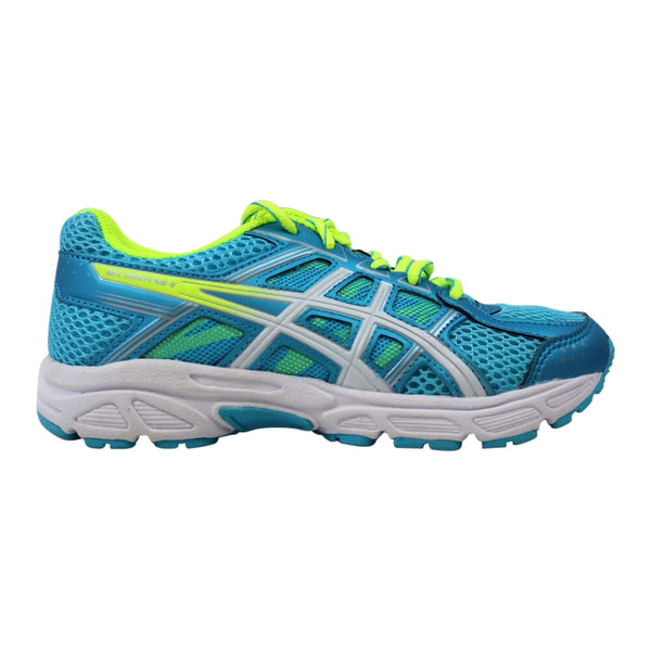 Asics Gel Contend 4 Aquarium/White-Safety Yellow  C707N-3901 Pre-School