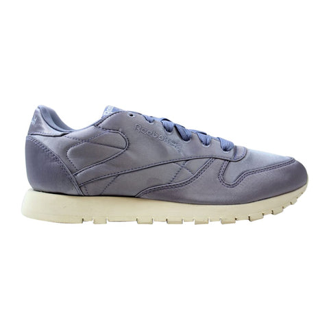 Reebok Classic Leather Satin Purple Fog/Classic White  CM9801 Women's