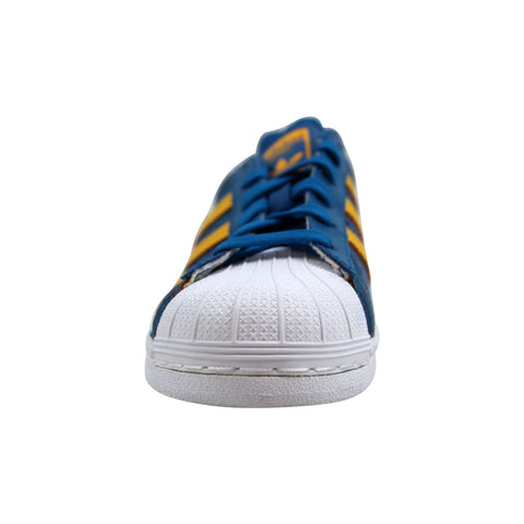 Adidas Superstar J Blue/Gold-White F37789 Grade-School