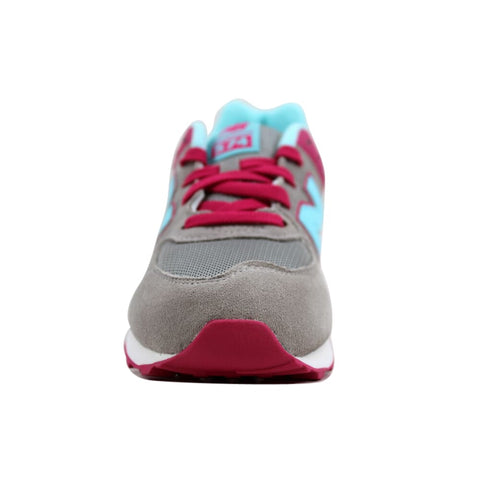 New Balance 574 Grey/Light Blue-Magenta KL574ALG Grade-School