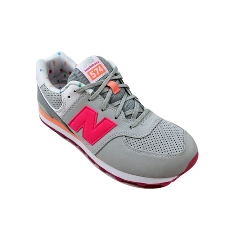 New Balance 574 State Fair Light Grey/Pink KL574BZG Grade-School