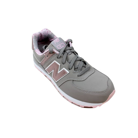 New Balance 574 Grey/Pink KL574F1G Grade-School