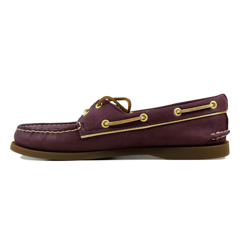 Sperry Authentic Original Wine/Gold Piping STS90180