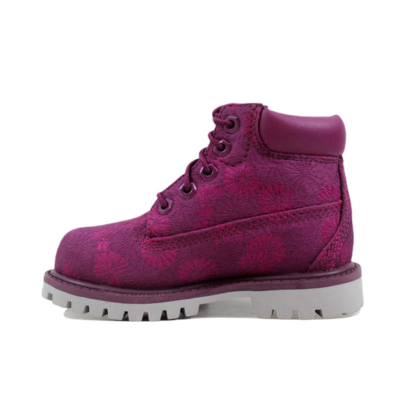 Timberland 6 Inch Classic Boot Magenta Floral TB0A175K Toddler