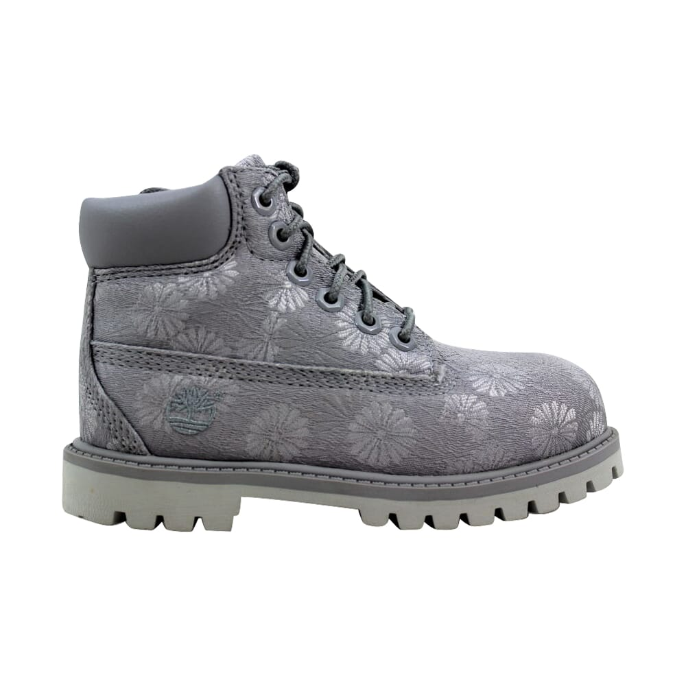 Timberland 6 Inch Classic Grey Floral TB0A1767 Toddler