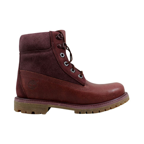 Timberland 6 Inch Premium D Ring Burgundy  TB0A19C4 Women's