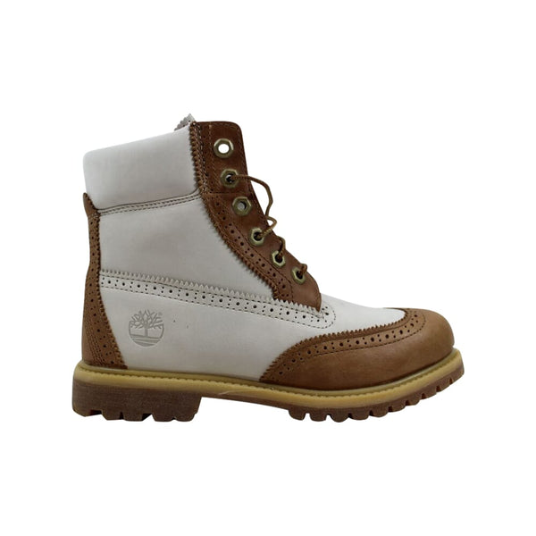 Timberland 6 Inch Premium Boot Tan/Off White  TB0A1G6T Women's