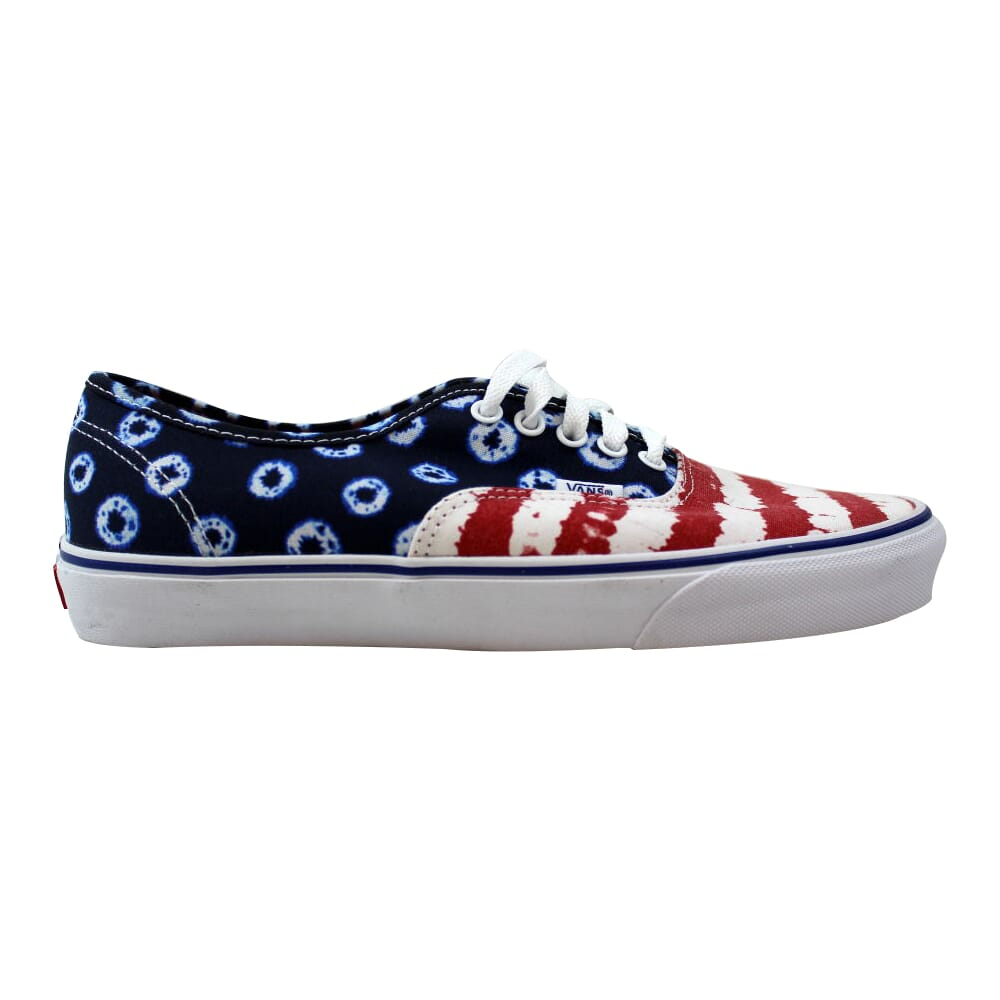 Vans Authentic Dyed Dots & Stripes Blue/Red  VN0003B9IDP Men's
