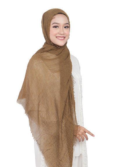 PASHMINA SHAWL - GOLDEN BROWN