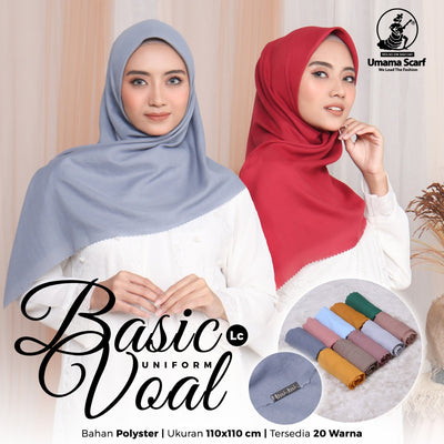 Basic Voal Uniform Lc - Seri Warna isi 10pcs