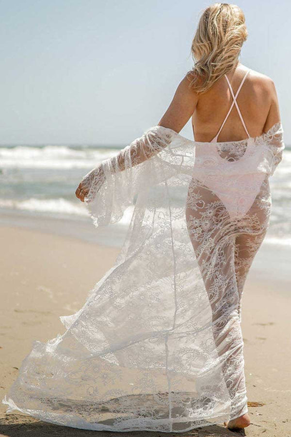 CupNami Beach Lace Embroidery Cover Up